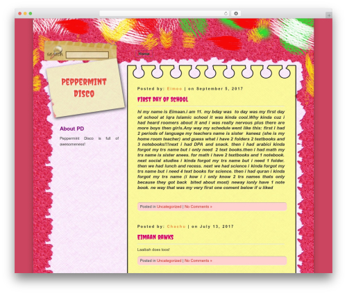 D5 COLORFUL free WordPress theme - peppermintdisco.com