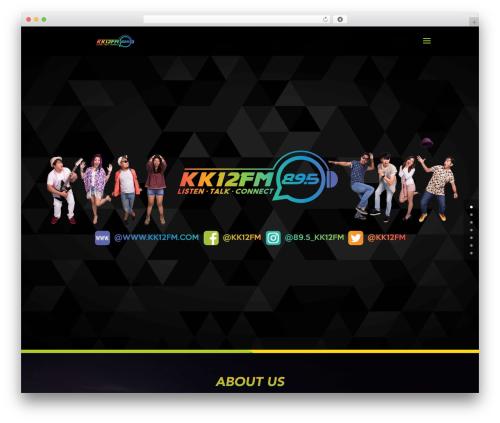 Divi WordPress theme - kk12fm.com