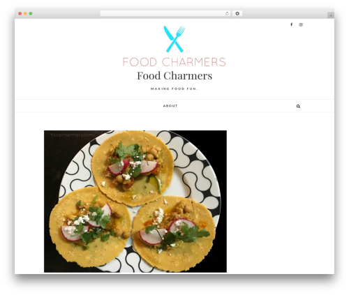 Edge free website theme - foodcharmers.com