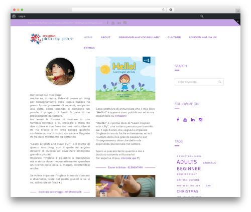 Extent WordPress blog theme - englishpiecebypiece.com