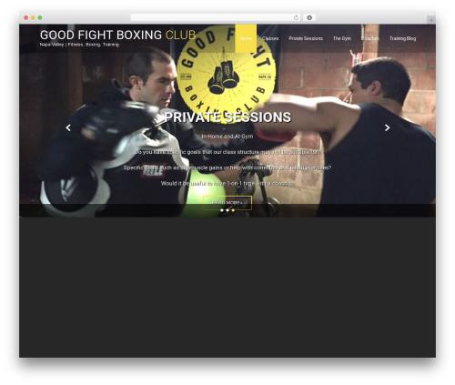 Fitness Lite free WordPress theme - goodfightboxingclub.com