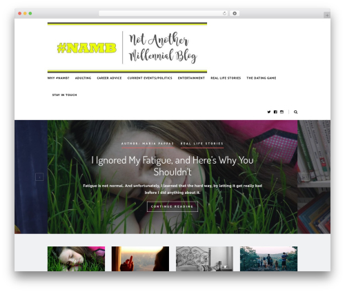 Heart and Style template WordPress - notanothermillennial.com