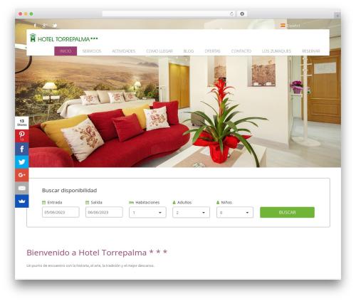 Hoteliour WordPress restaurant theme - hoteltorrepalma.com