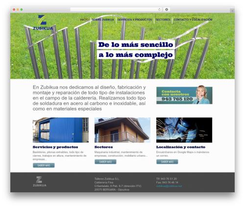 Inspire WordPress theme - zubikua.es