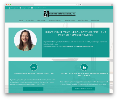 Jupiter best WordPress template - attorneysallymcclellan.com