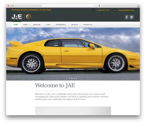 NetStudio WordPress page template - jaeparts.com