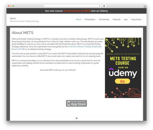 Rational Start free WP theme - metstesting.com