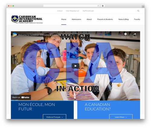 Smarty WordPress theme - ciaschool.com