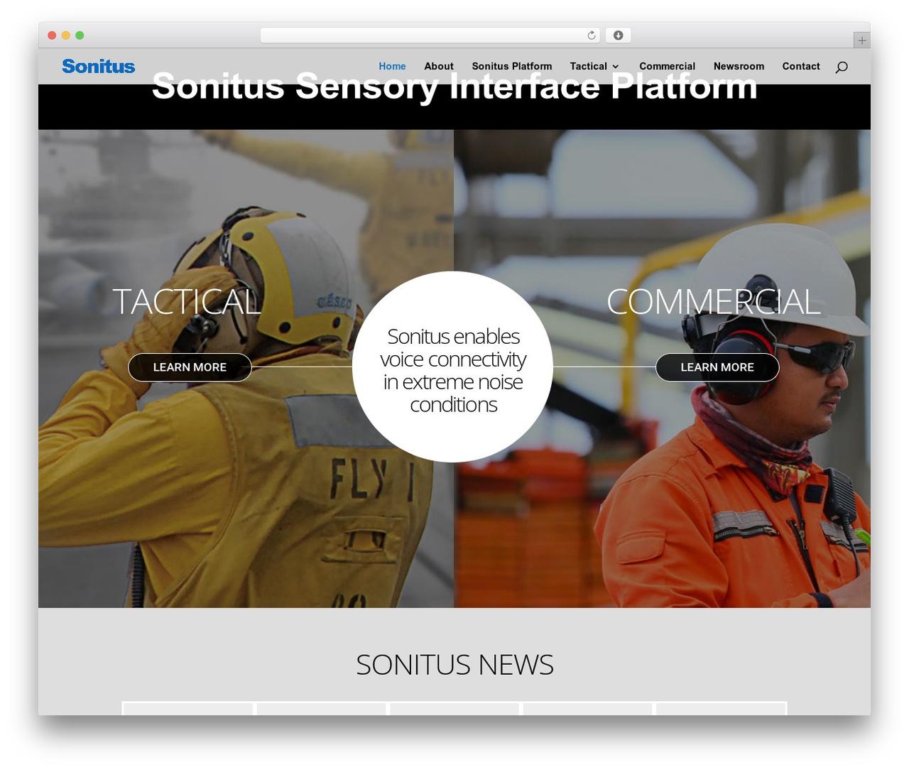 Theme WordPress Divi - sonitustechnologies.com