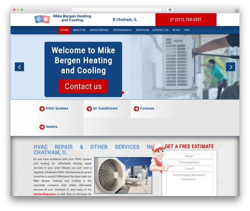 Theme WordPress Divi - mikebergenheating.com