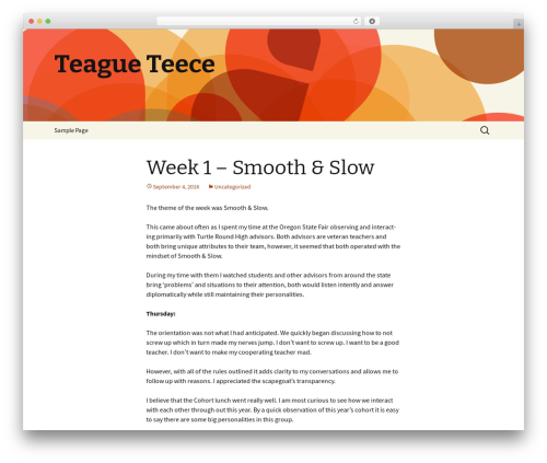 Twenty Thirteen free WP theme - teagueteece.com