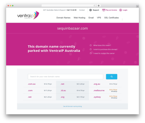 VentraIP Australia top WordPress theme - sequinbazaar.com