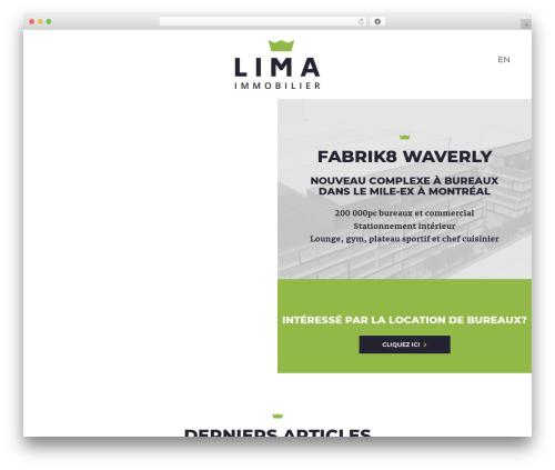 Waxom top WordPress theme - limaimmobilier.com