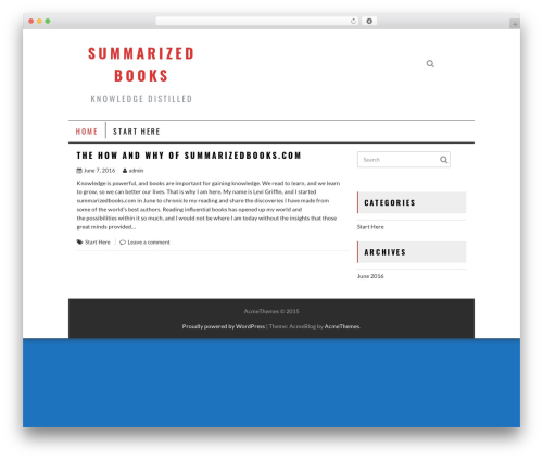 AcmeBlog WordPress theme - summarizedbooks.com