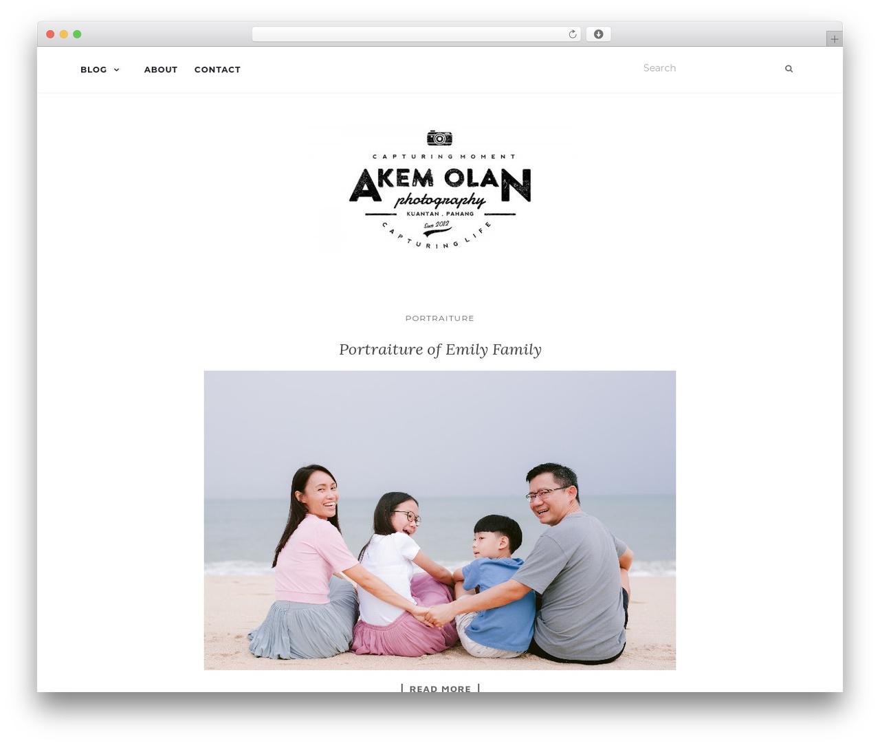 Activello WordPress photo theme - akemolanphotography.com
