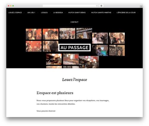 Argent WordPress template - aupassage.com