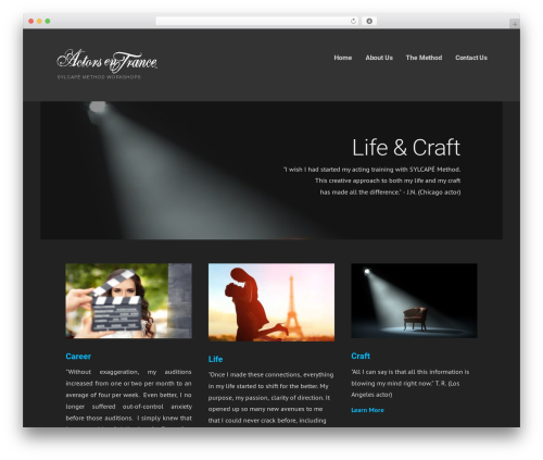 Ascension WordPress ecommerce theme - actorsentrance.com