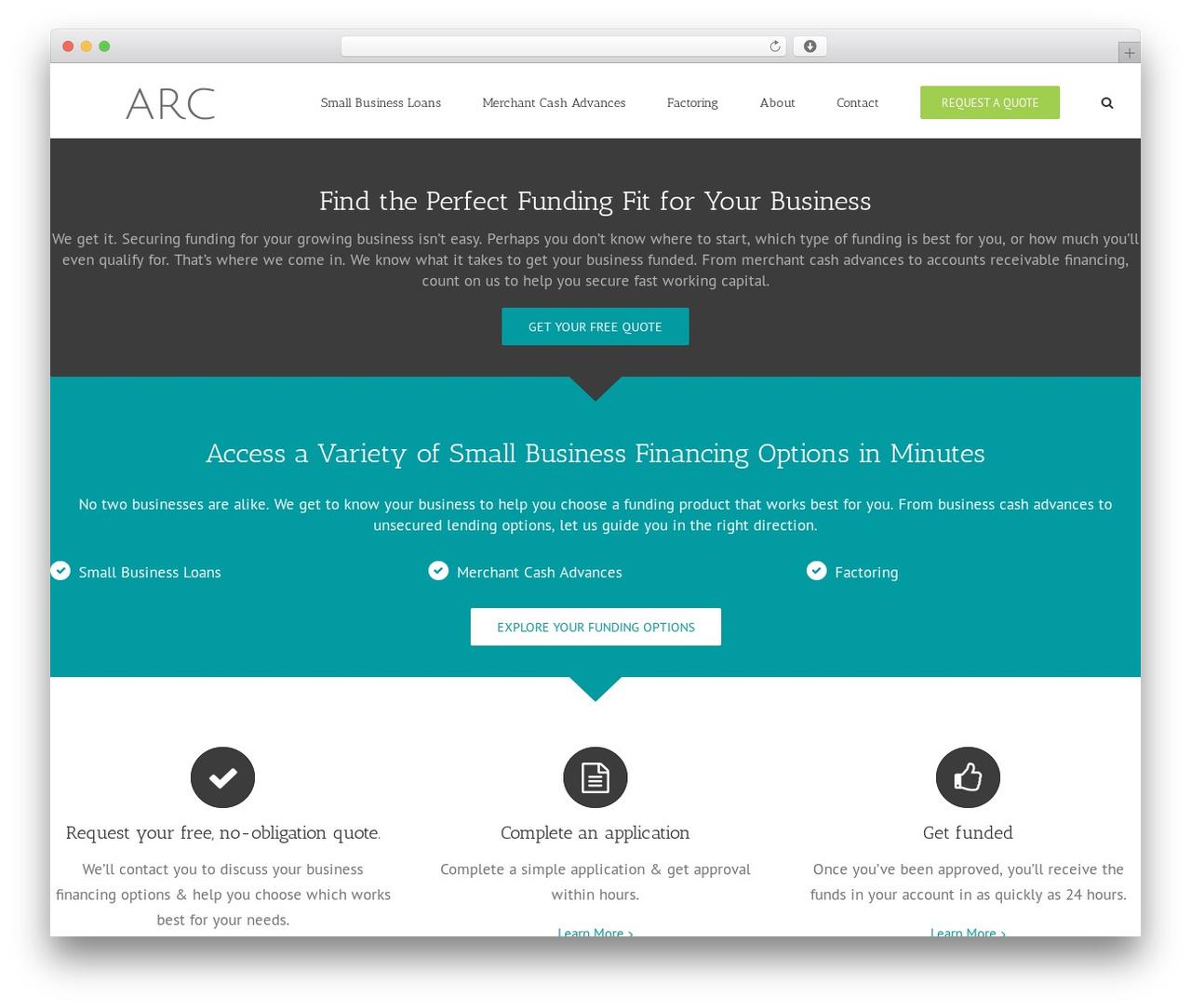 Avada WordPress template for business - accountsreceivablecash.com