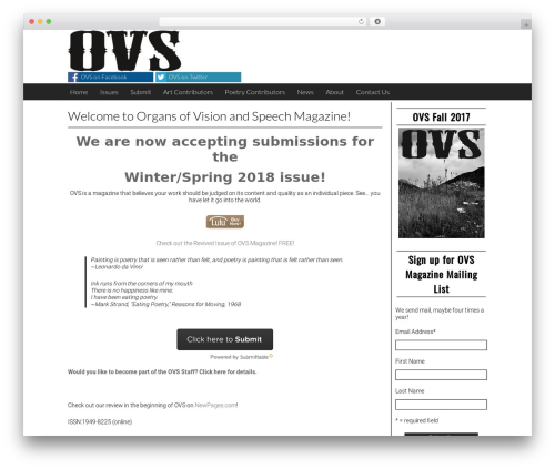 Best WordPress template Giornalismo - ovsmag.com