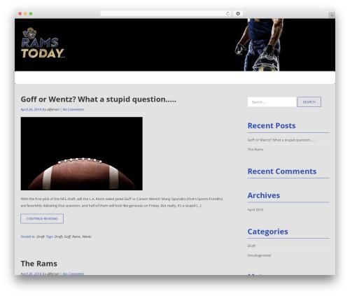 Best WordPress template Tribute - ramstoday.com