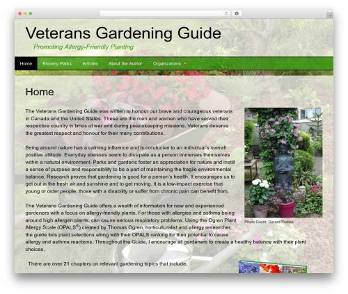 BsnTech Networks landscaping WordPress theme - veteransgardeningguide.com