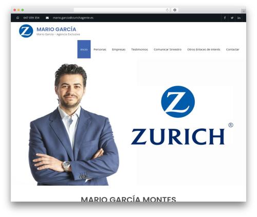 Business Club free WP theme - mariogarciaseguros.com