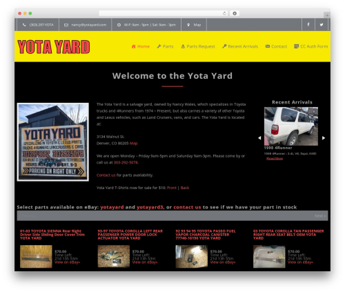 Carservice best WordPress template - yotayard.com