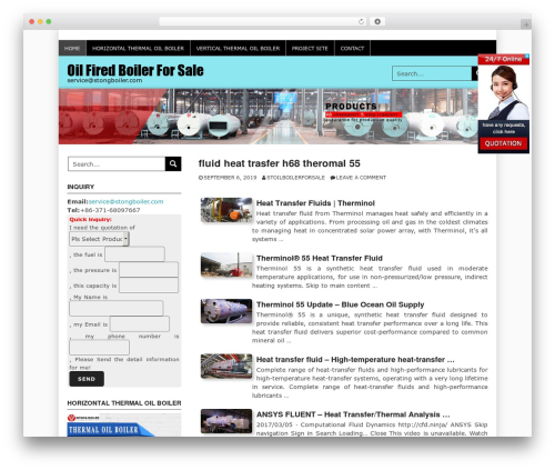 Coral Snowy best free WordPress theme - stoilboiler.com