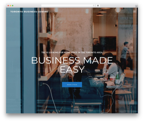 CoWorking business WordPress theme - torontobusinesscentre.com