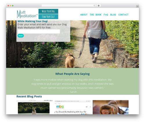 Department template WordPress - muttmeditation.com