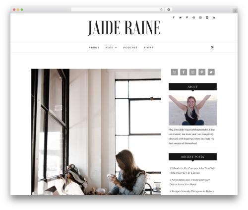 Edge free WP theme - jaideraine.com