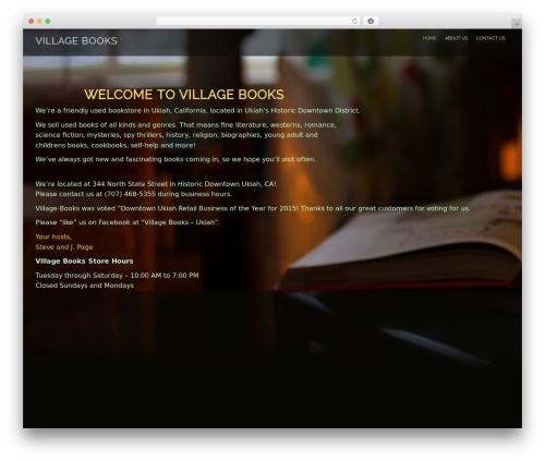 Evolv WordPress website template - villagebooks-ukiah.com