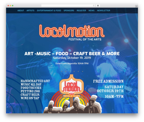 Fest premium WordPress theme - localmotionfest.com
