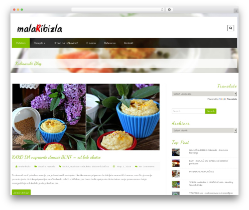 Foodeez Lite free website theme - malaribizla.com