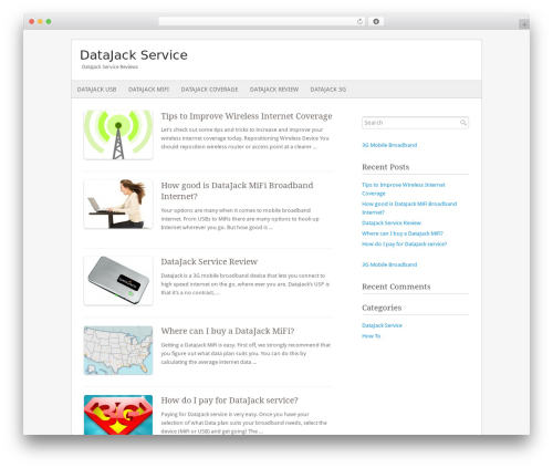 Fresh And Clean WordPress website template - datajackservice.com
