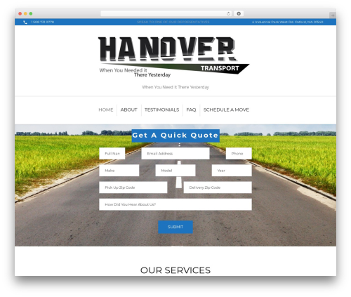 Intime WordPress page template - hanovertransport.com