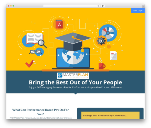 Leadinjection WordPress website template - trymasterplan.com
