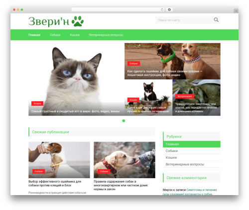 Marafon best WordPress theme - zverin.com