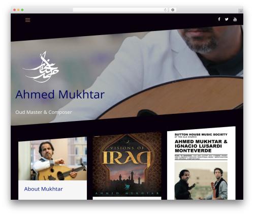 Oblique free WordPress theme - amukhtar.com