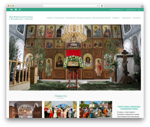 Pinnacle WordPress template free - oznobishino.com