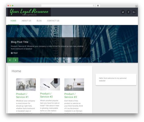 Renard WordPress template free download - yourlegalresource.com