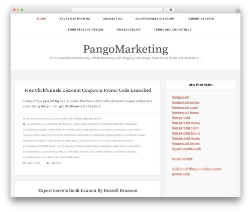 Simplex Munk WordPress theme - pangomarketing.com