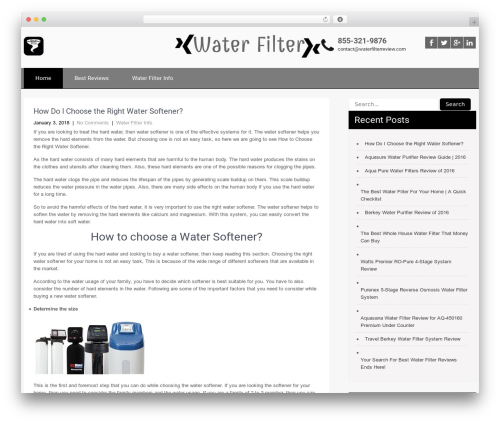 SKT Strong free WordPress theme - thewaterfilterreview.com
