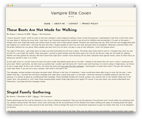 Spiffy Lite top WordPress theme - vampire-elite.com