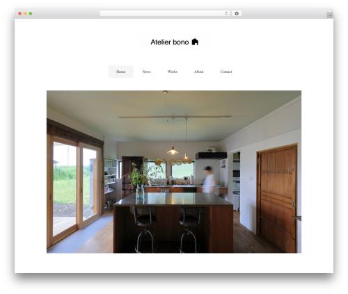 Template WordPress Flora deux - atelier-bono.com