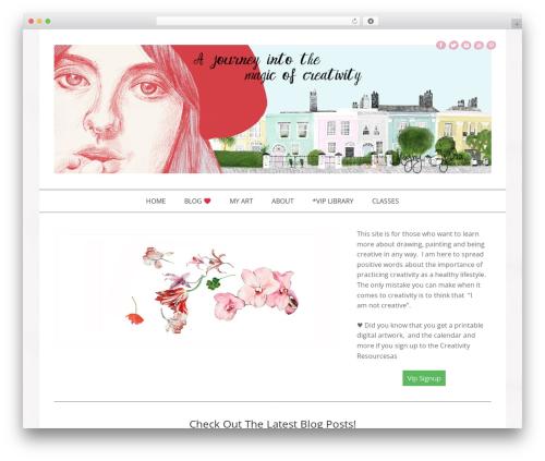 Template WordPress Jasmine - Premium - magicofcreativity.com