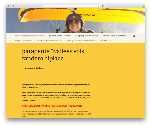 Twenty Thirteen free WP theme - 3vallees-parapente.com
