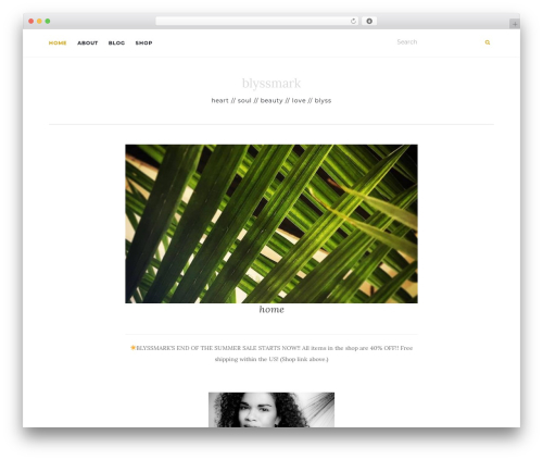 WordPress theme Activello - blyssmark.com