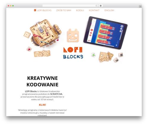 WordPress theme Robot - lofiblocks.com