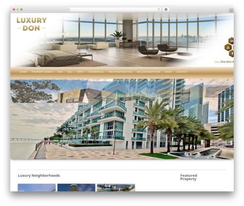 WordPress website template !LesPaul - luxurydon.com